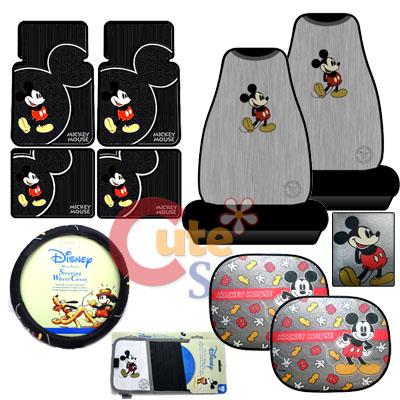 Seats On Mickey Mouse 10pc Car Seat Covers Accessories Compleate At Cutesense