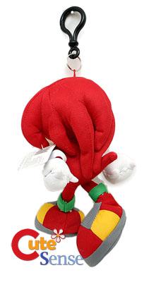Sega Sonic The Hedgehog X Knuckles 7 Plush Doll Key Chain