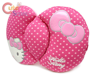 Sanrio Hello Kitty Back Cushion Pink Polka Dots Pillow Auto accessories