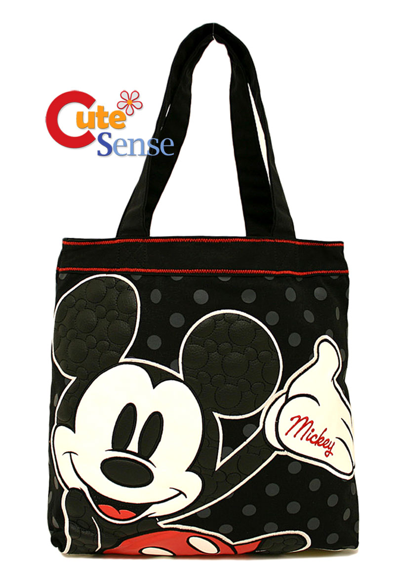 disney mickey mouse quilted leather tote bag loungefly ebay. Black Bedroom Furniture Sets. Home Design Ideas