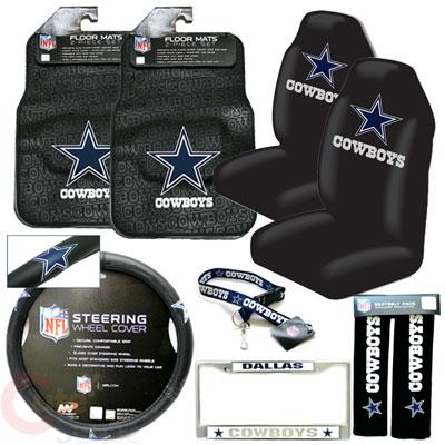 Dallas Cowboys Car Seat Cover Auto Accessories Set 9pc Ebay