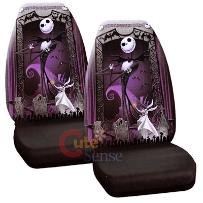 Nightmare Before Christmas Jack Car Seat Cover Set NBC Auto Accessories Graveyar