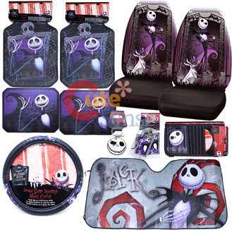 Nightmare Before Christmas Car Seat Covers Accessories Complete Set