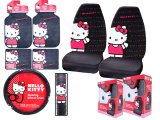 Hello kitty Core Car Seat Covers Accessories Compleate -7pc Basic Set