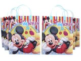 Disney Mickey Mouse Party Gift Bag Set  6pc Plastic/Reusable