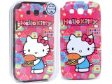 Sanrio Hello Kitty Samsung Galaxy 3 S3 Hard Phone Case Cover :Hamburger
