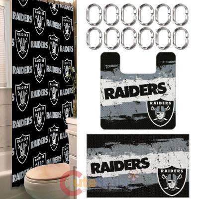 Nfl Oakland Raiders 15pc Bathroom Rug