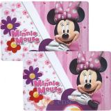 Disney Minnie Mouse Flowers Dining Placemat Set -2pc Set