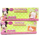 Disney Minnie Mouse 45pc Sandwich Snack Bags Set Food Zip Bag