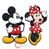 Disney Mickey and Minnie Mouse  Soft Touch PVC Magnet - 2pc Set