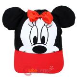 Disney Minnie Mouse Baseball Cap Hat with 3D Ear -Red bow