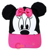 Disney Minnie Mouse Baseball Cap Hat with 3D Ear -Pink bow