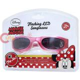 Disney Minnie Mouse  Kids Sunglasses with Flashing LED Lights