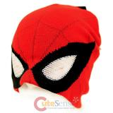 Marvel Spiderman Face Beanie with See Though Eye Holes
