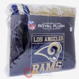 "NFL Los Angeles Rams Mink Plush Blanket - Queen 76""x94"""