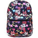 Disney Minnie Mouse Large School Backpack All Over Prints Bag Black