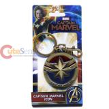Captain Marvel Logo Metal Key Chain