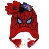Marvel Spiderman Laplander Beanie Hat Glove Set