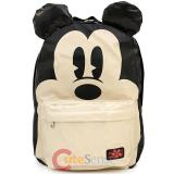 "Disney Mickey Mouse  School Backpack with 3D Ears 16"" Large Bag"